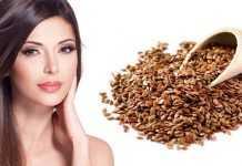 Маска для лица с семенами льна